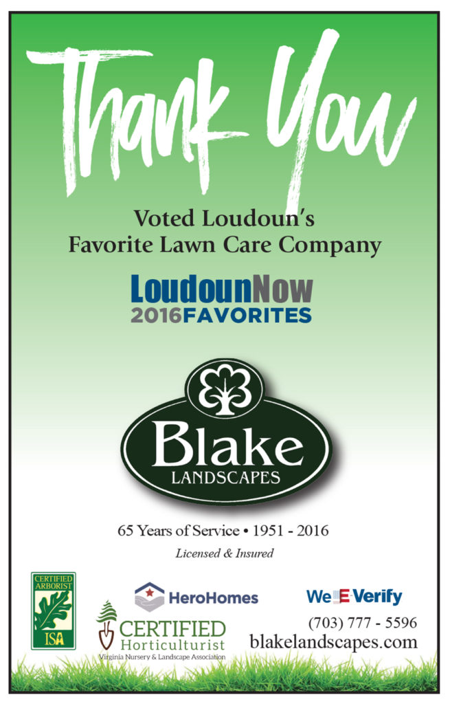 Blake landscapes voted loudoun county s favorite lawn care for Lawn care companies