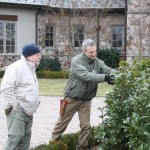 Blake Landscapes VP Brad Yurish pruning