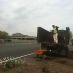 Mulching on the Dulles Toll Road