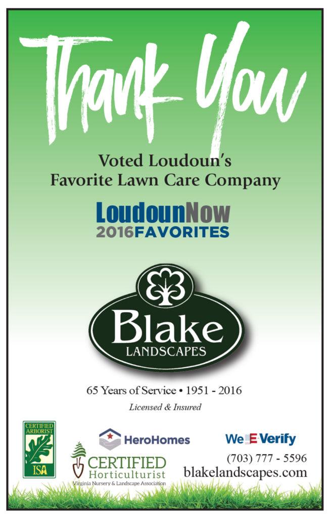 Blake Landscapes voted Loudoun's favorite lawn care company